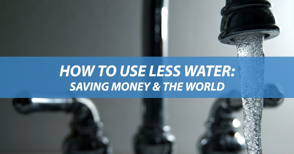 How to use less water image